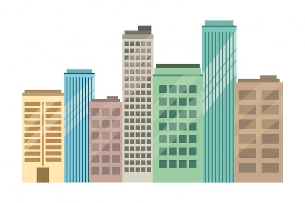 Real state buildings cartoon