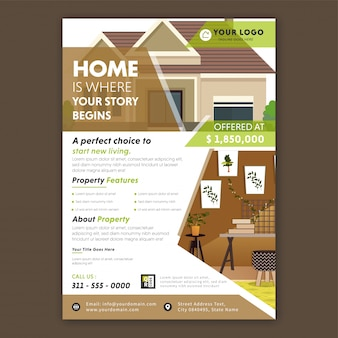 Real state flyer template