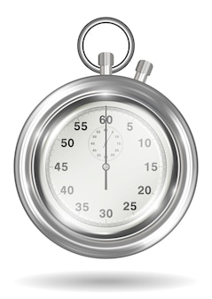 Real steel handy stopwatch on a white background