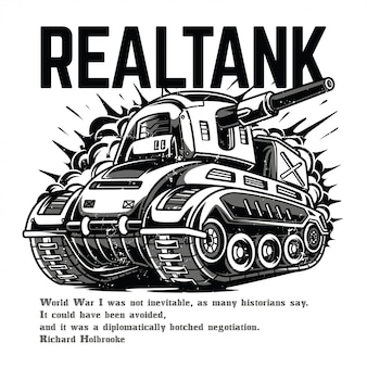 Real tank black and white