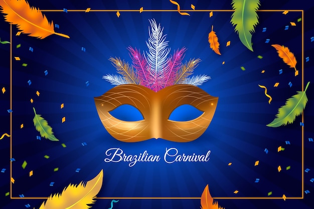 Realisitc бразильский карнавал тема