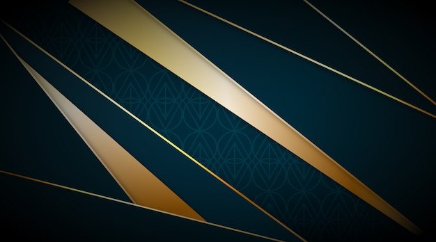 Realisitic elegant geometric shapes background concept