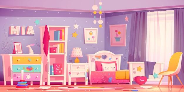 Реалистичная иллюстрация интерьера комнаты