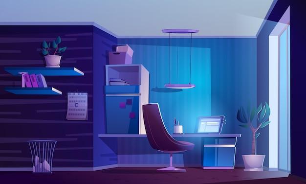 Illustrazione realistica dell'interno della stanza