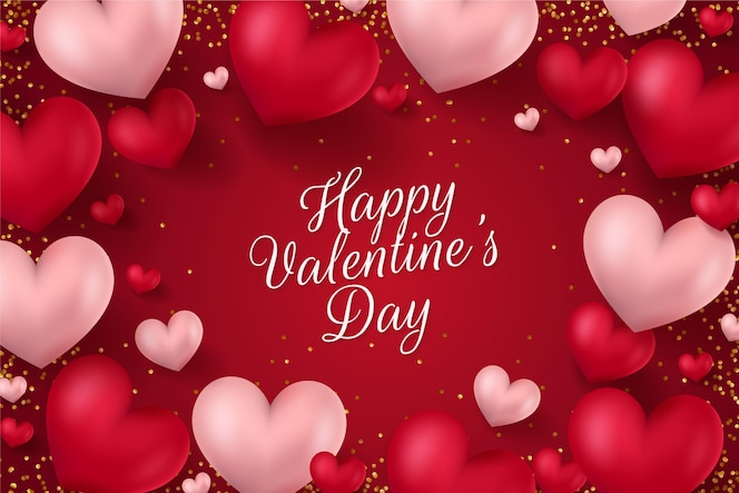 Realistc valentines day background