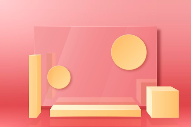 Realistic 3d abstract scene background
