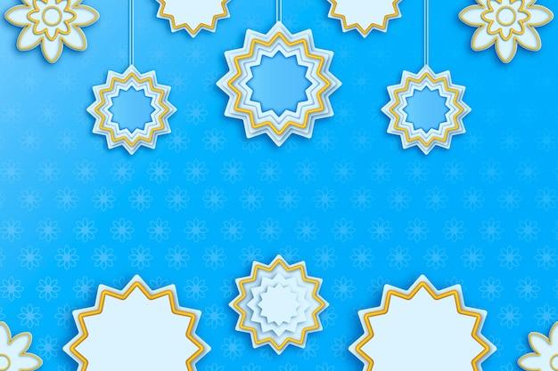 Realistic 3d arabic ornamental background