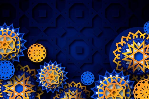 Fondo ornamentale arabo 3d realistico