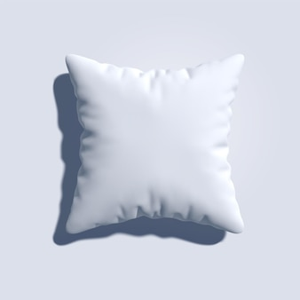 Реалистичная 3d пустая белая подушка готова для текстуры или рисунка