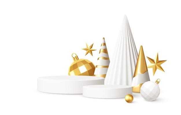 Realistic 3d christmas decoration
