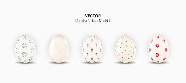 현실적인 3d 부활절 달걀 디자인