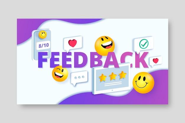 Realistico concetto di feedback 3d
