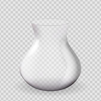 현실적인 3d 유리 꽃병 디자인 요소