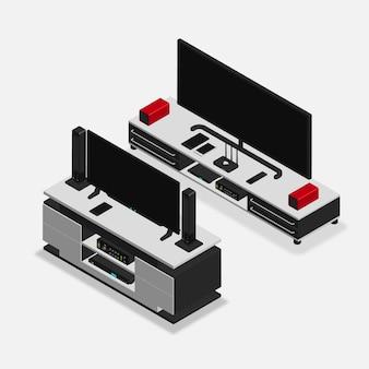 Реалистичный 3d изометрический мебельный гарнитур