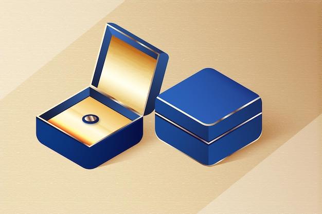 Design realistico del mockup di gioielli 3d