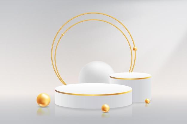 Реалистичная 3d подиум-витрина ювелирных изделий