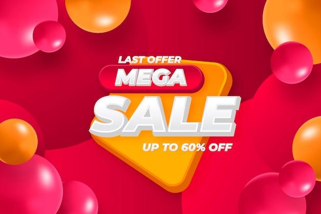 Sfondo di vendita mega 3d realistico