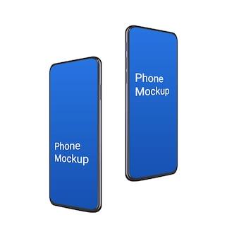 다른 각도에서 현실적인 3d 휴대 전화