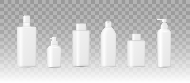 Realistic 3d mockup of cosmetic packaging