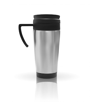Realistic 3d model of thermos cup