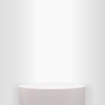 スポットライト付きのリアルな3d博物館の表彰台空白の製品台座テンプレート