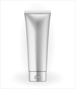 Realistic 3d natural color cream tube