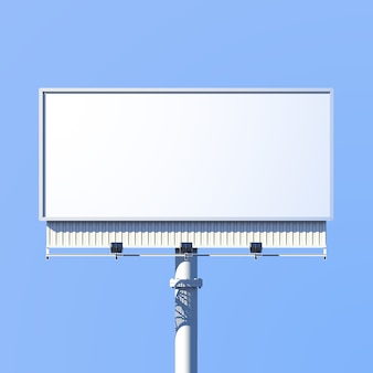 Realistic 3d outdoor advertising billboard sign
