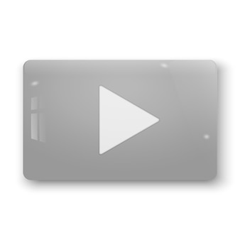 Realistic 3d play button. vector illustration