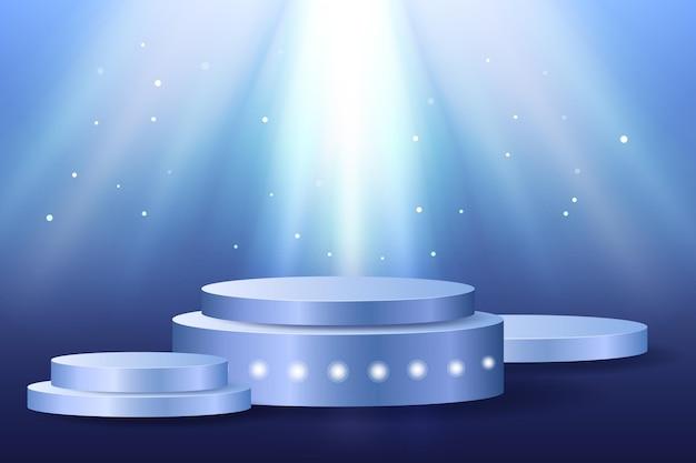 Реалистичный 3d подиум с подсветкой