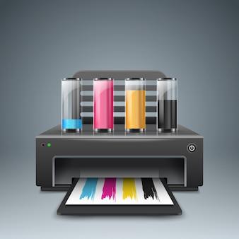 Realistic 3d printer