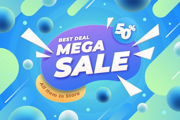 Realistic 3d sale background