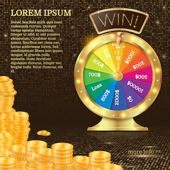 Realistic 3d spinning fortune wheel