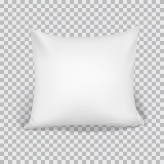Realistic 3d white pillow