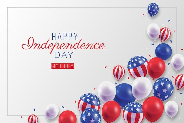 Realistico 4 ° di luglio giorno dell'indipendenza palloncini sfondo