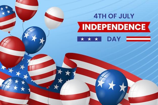 4 luglio realistico - sfondo di palloncini del giorno dell'indipendenza