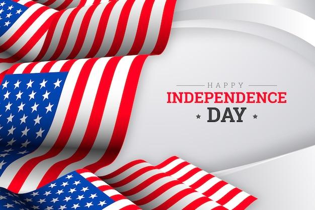 4 luglio realistico - illustrazione del giorno dell'indipendenza