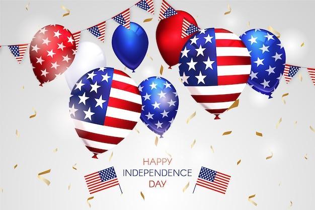 7月4日-独立記念日の風船の背景