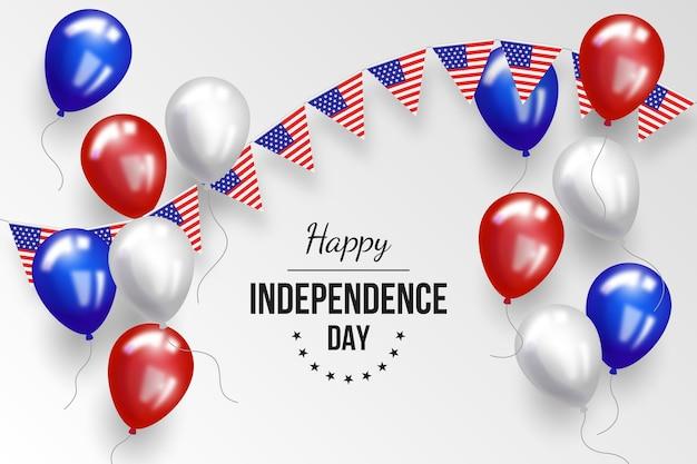 Реалистичные 4 июля - день независимости воздушные шары фон