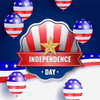 7 월 독립 기념일 그림의 현실적인 4