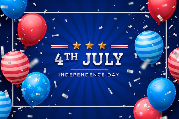 Реалистичное 4 июля - иллюстрация дня независимости
