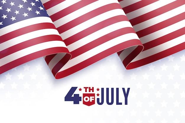 7月の独立記念日の現実的な4日 無料ベクター