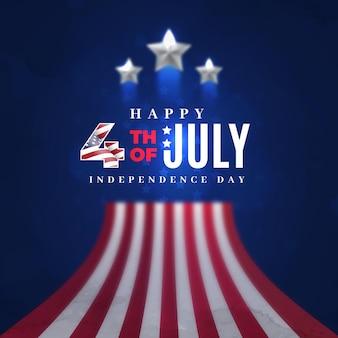 7月の独立記念日の現実的な4日