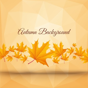 Realistic abstract autumn poster