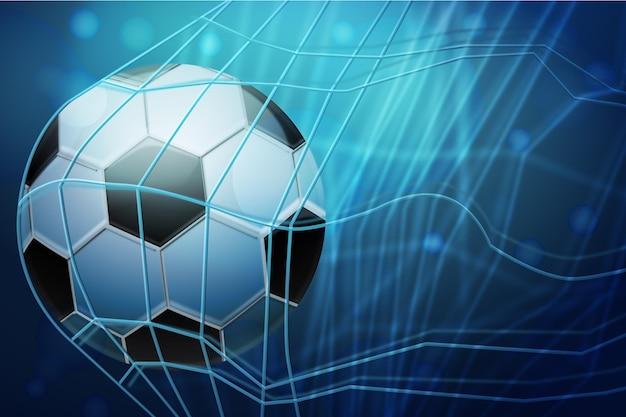 Реалистичный абстрактный футбольный фон