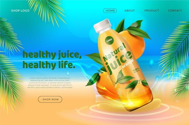 Реалистичная реклама с целевой страницей продукта