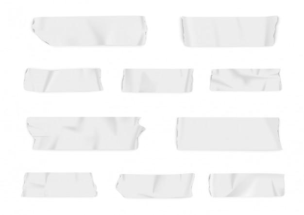 Реалистичная коллекция клейкой ленты. Premium векторы