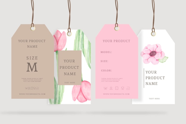 Realistic ads spring floral hangers