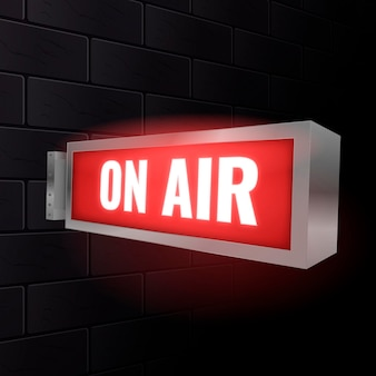 Realistic on air sign