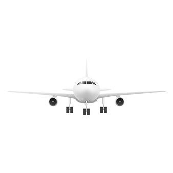 Реалистичный вид спереди самолета
