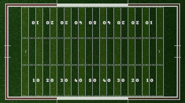 Realistic american footbal field